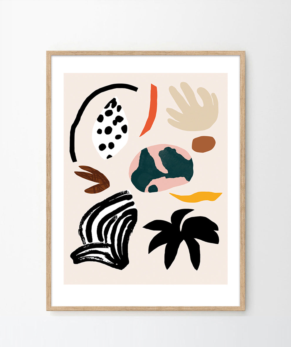 'Playful nature shapes' Art Print