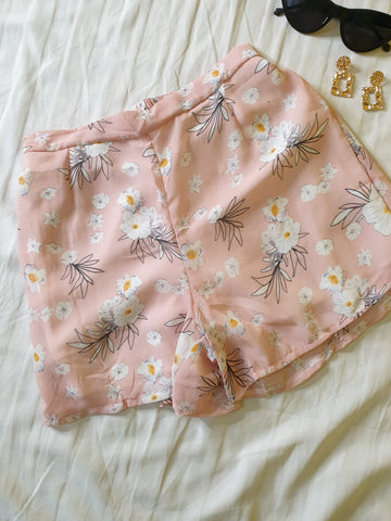 Pink Co-Ord Floral Shorts