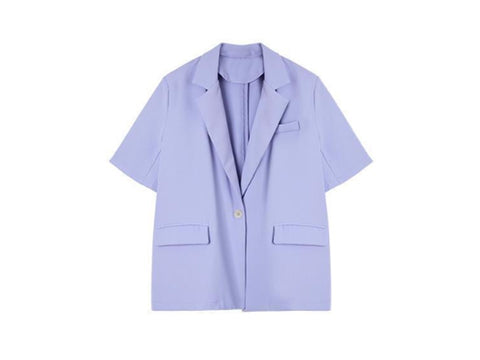 Lavender Pocket Detailed Blazer