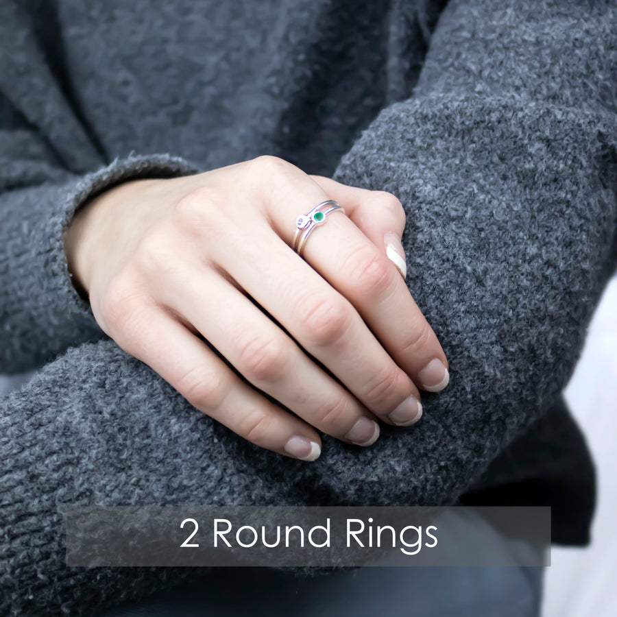 Sucrée Round Ring | Natural Peridot