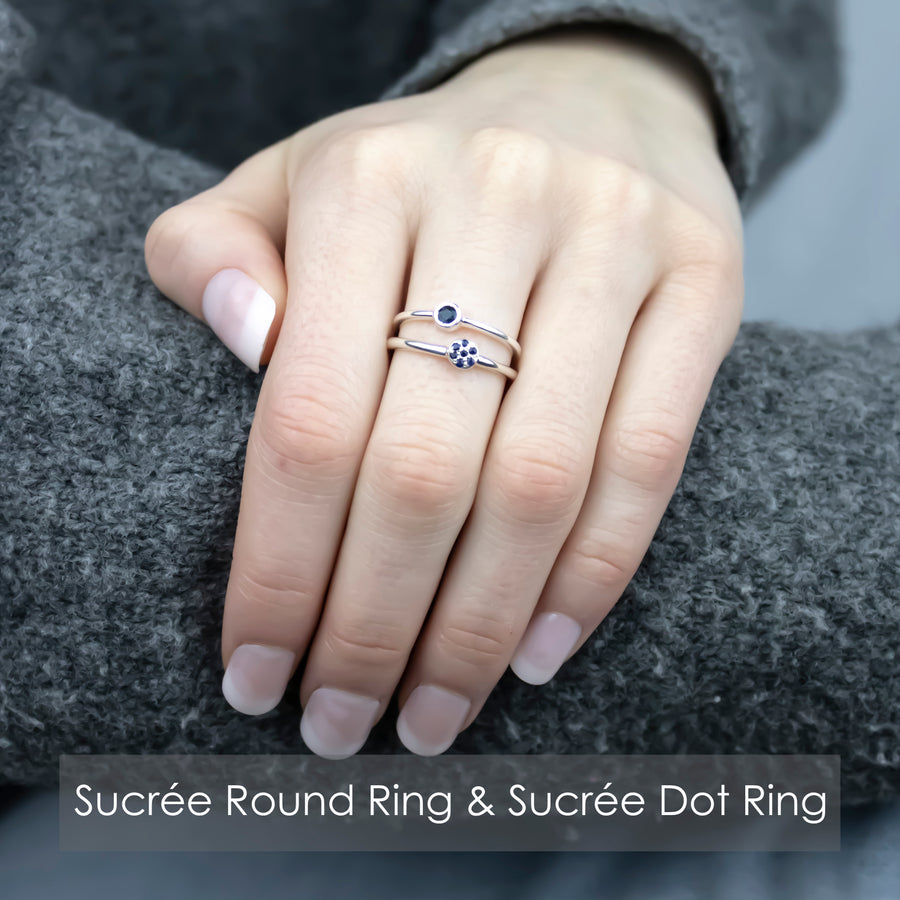 Sucrée Round Ring | Natural White Topaz