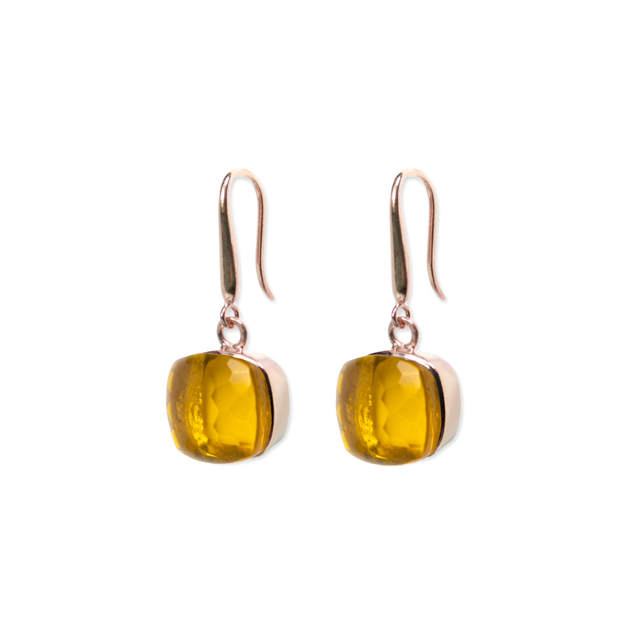 Sucrée Earrings | Golden Citrine | Large Model