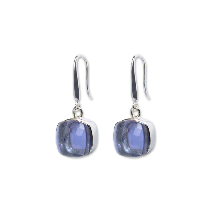 Sucrée Earrings | iolite Quartz | Large Model