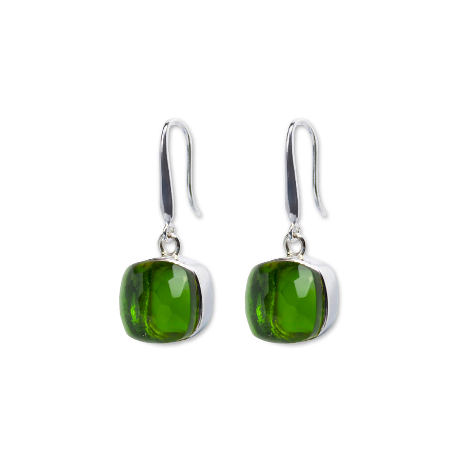 Sucrée Earrings | Peridot Quartz | Large Model