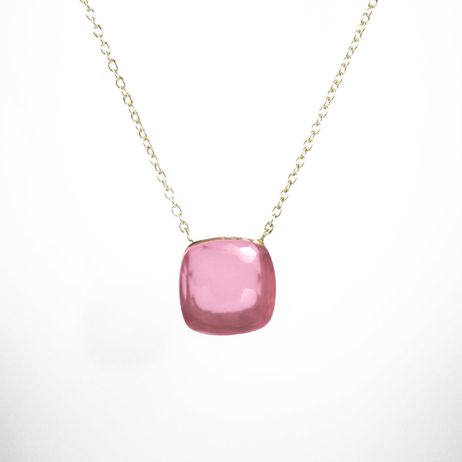 Sucrée Necklace | Pink Chalcedony | Large Model - LIMITED EDITION