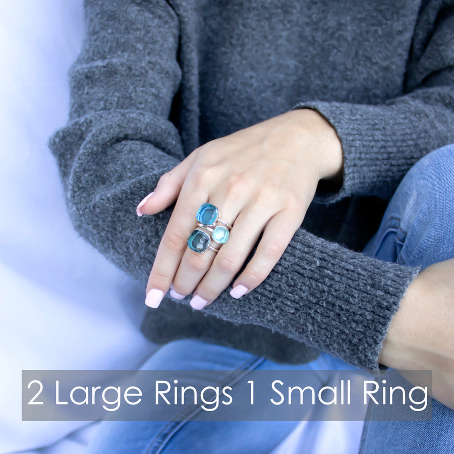 Sucrée Ring | Swiss Blue | Large Model