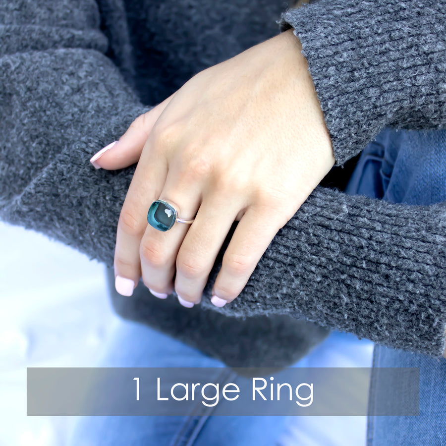 Sucrée Ring | Sapphire Quartz | Large Model