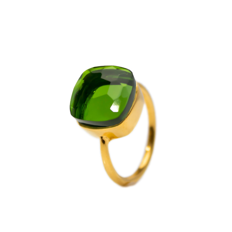 Sucrée Ring | Peridot Quartz | Large Model
