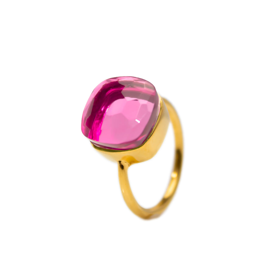 Sucrée Ring | Pink Tourmaline Quartz | Large Model
