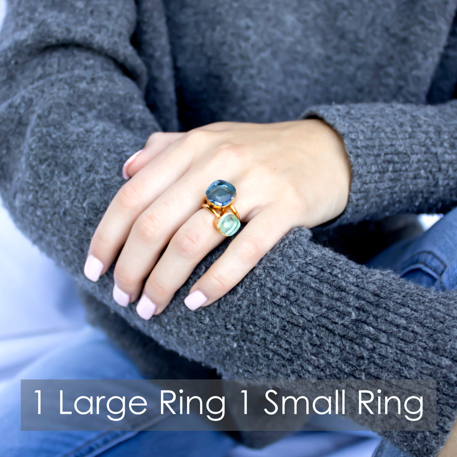 Sucrée Ring | Natural White Onyx | Small Model