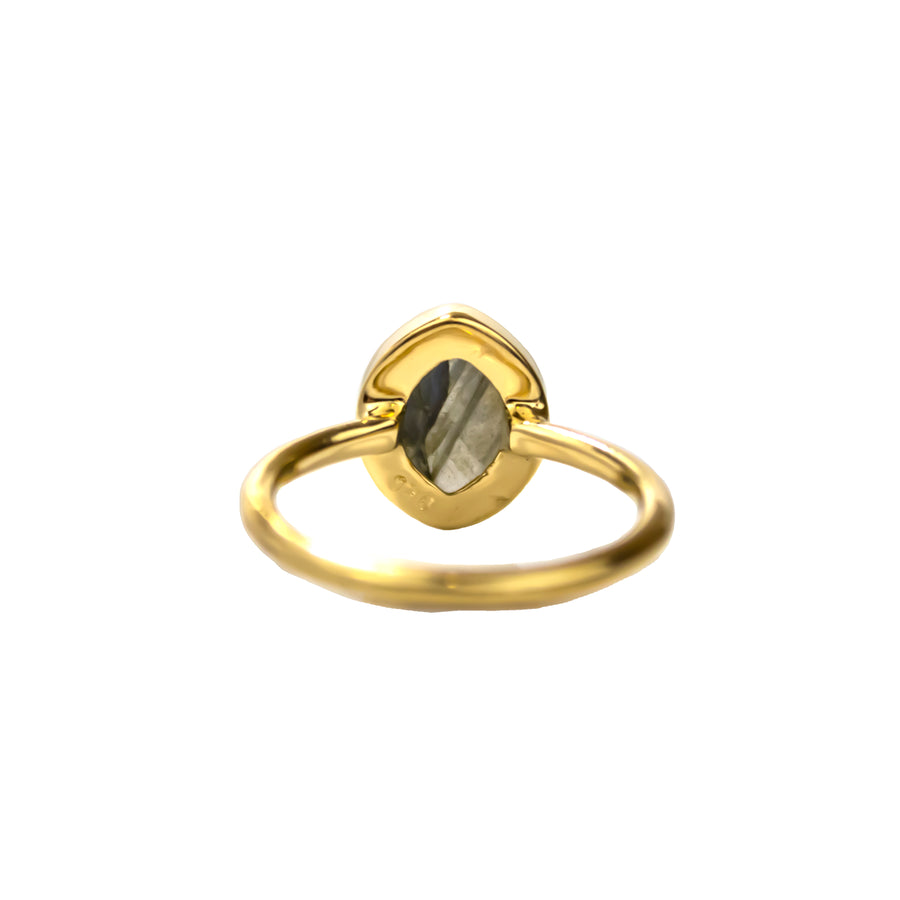 Outer Space Oval Ring | Labradorite