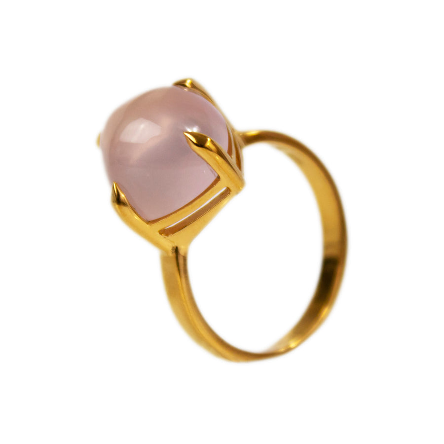 Sugarloaf Ring | Natural Rose Quartz | Large Model
