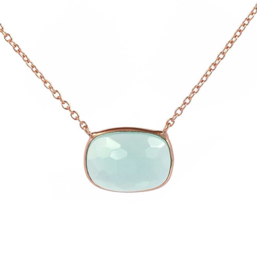 Sucrée Necklace | Aquamarine Quartz | Rectangle Model