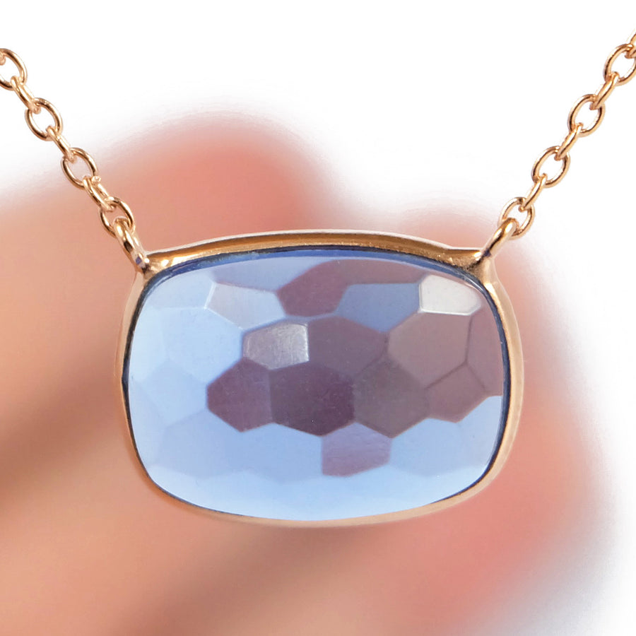 Sucrée Necklace | iolite Quartz | Rectangle Model