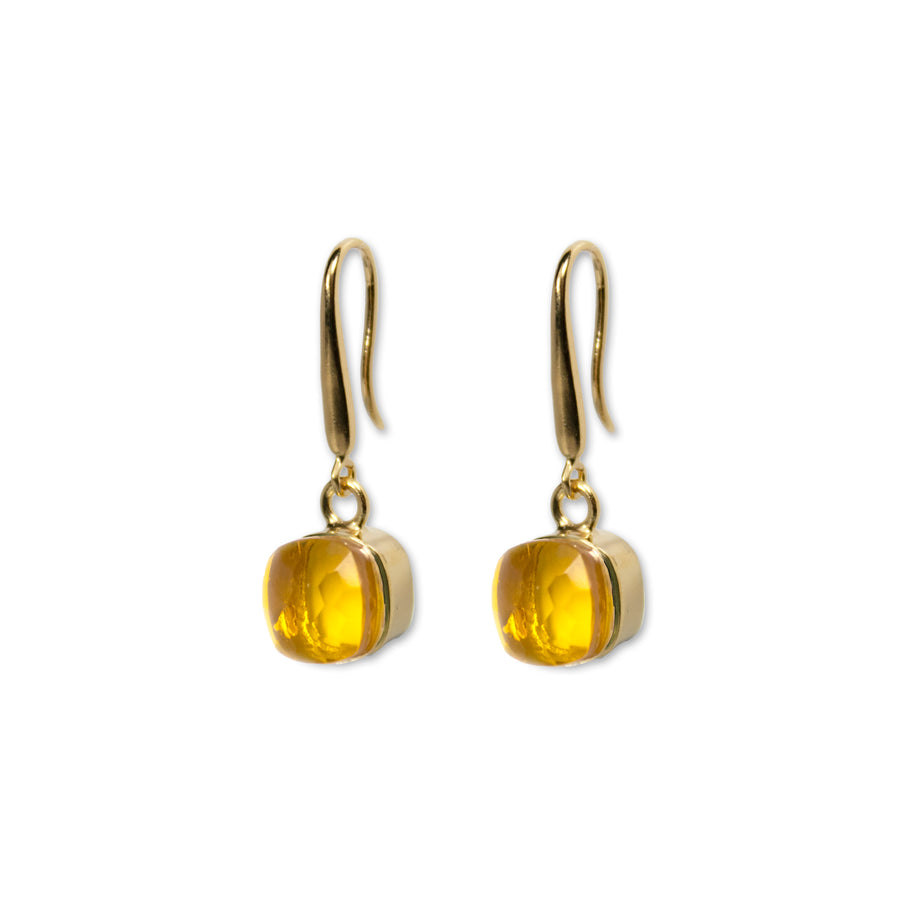 Sucrée Earrings | Golden Citrine | Small Model