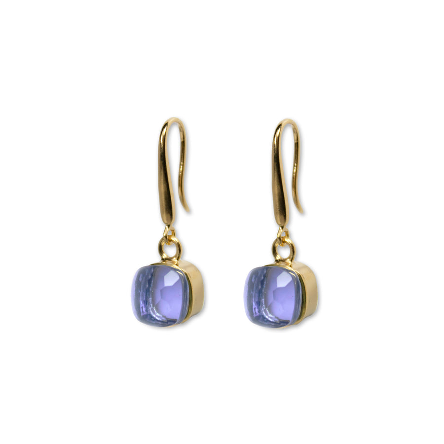 Sucrée Earrings | iolite Quartz | Small Model