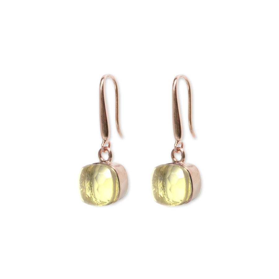Sucrée Earrings | Lemon Quartz | Small Model
