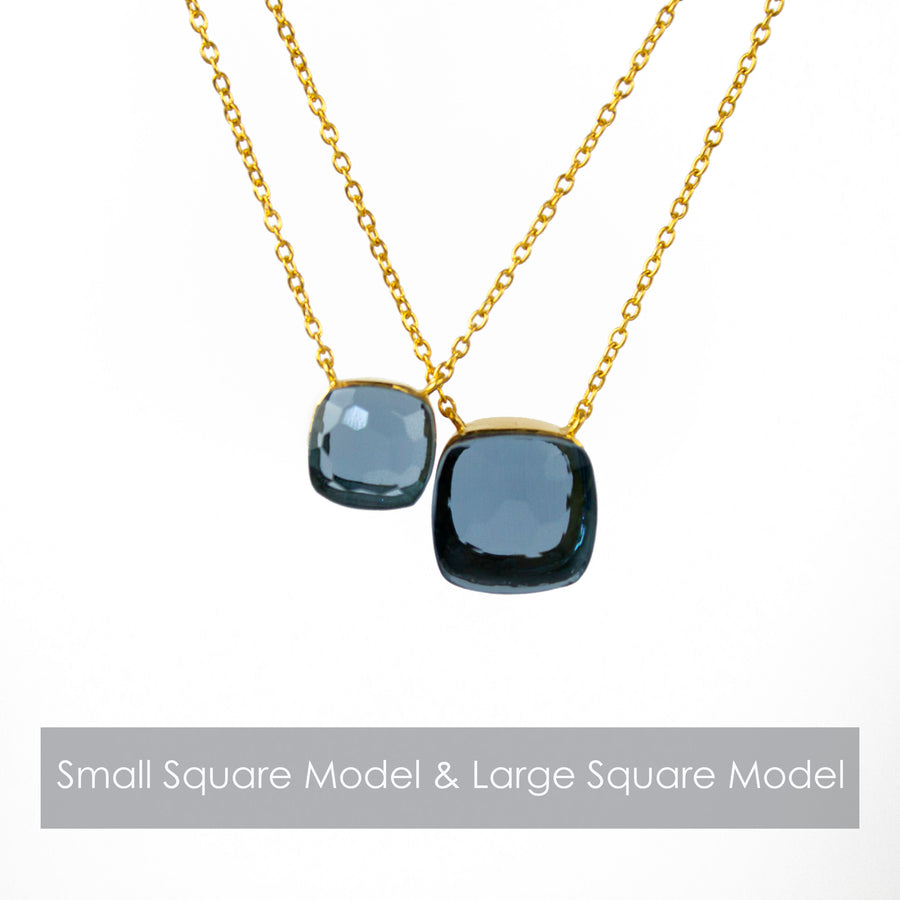 Sucrée Necklace | Swiss Blue | Large Model - LIMITED EDITION