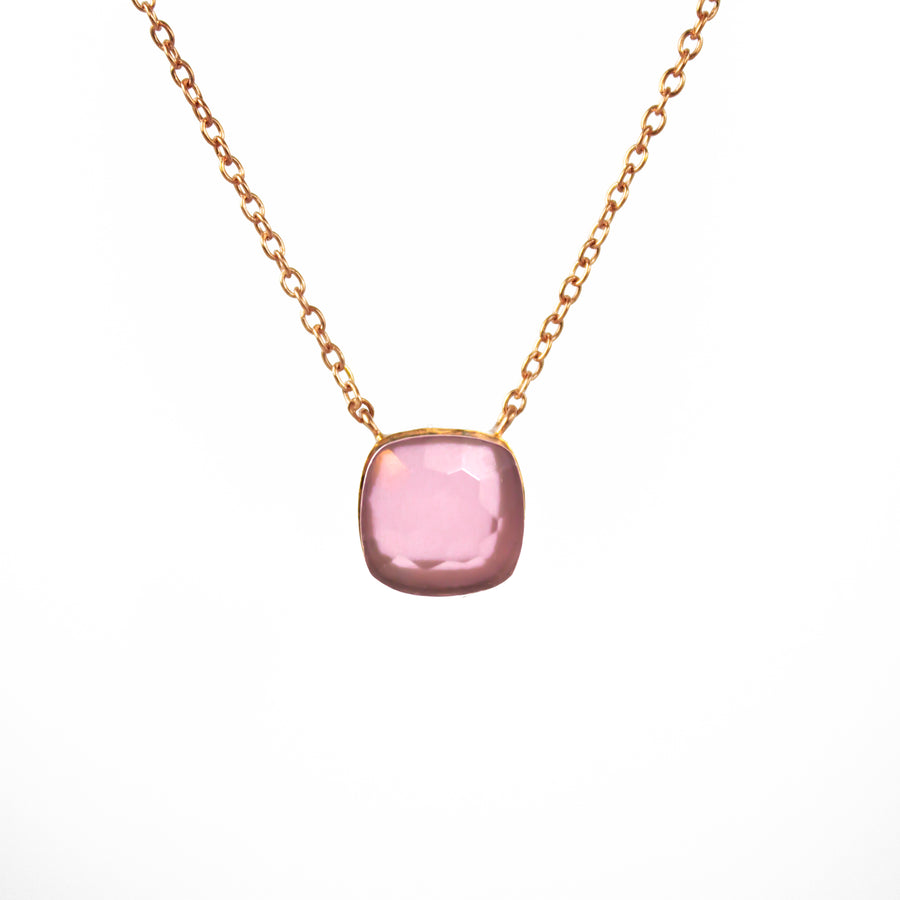 Sucrée Necklace | Pink Chalcedony | Small Model - LIMITED EDITION