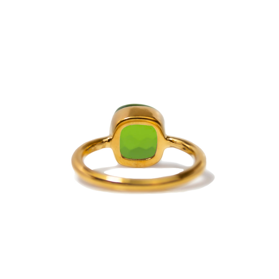 Sucrée Ring | Peridot Quartz | Small Model