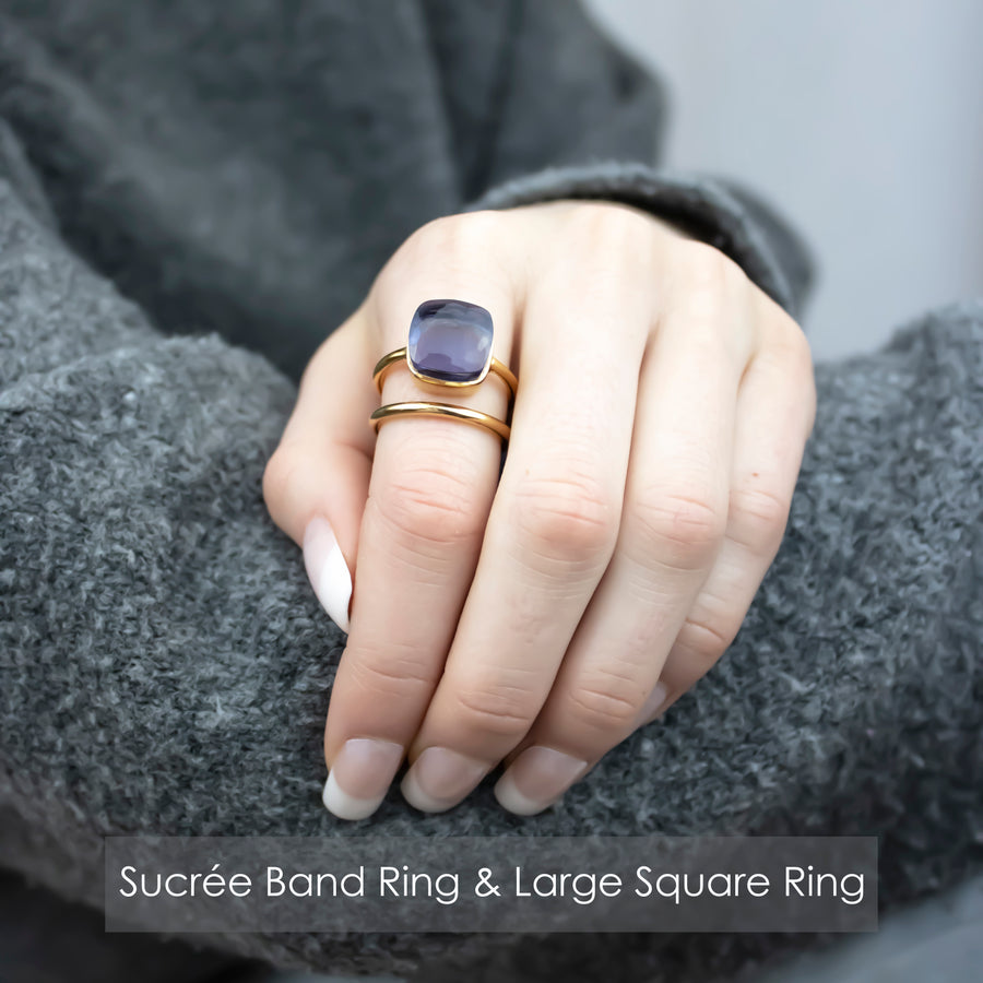 Sucrée Ring | Prasiolite | Large Model