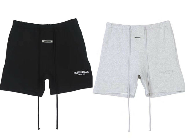 Fog Essentials SS2020 Shorts Reflective Cotton Shorts— Black/Grey
