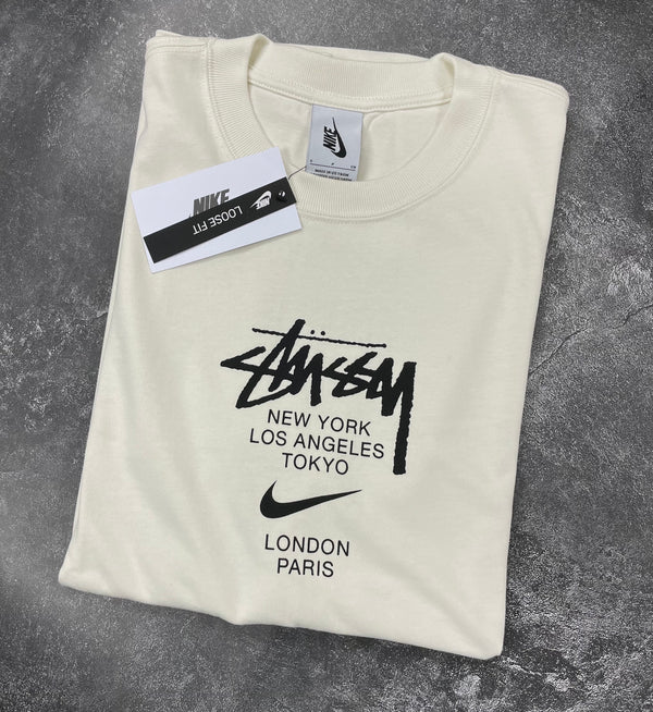 Stussy & Nike International Tee--White