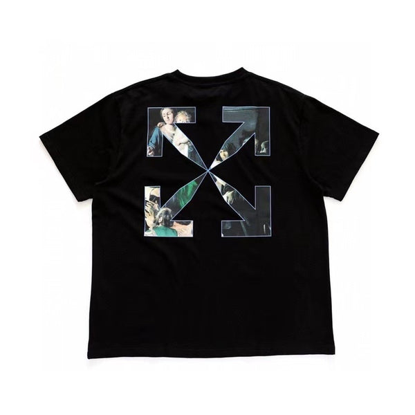 Off-White Fw20 Caravaggio Painting T-Shirt-Black