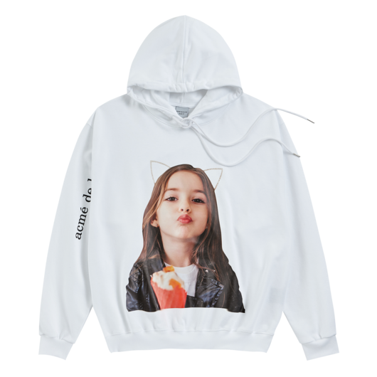 ADLV BABY FACE HOODIE WHITE KISS