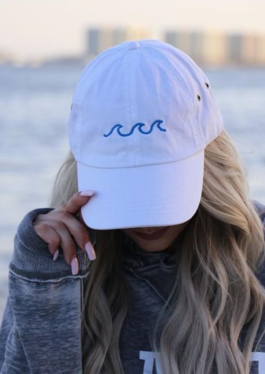 embroidered white beach hat