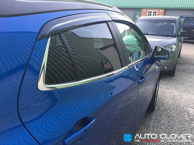 Auto Clover Wind Deflectors Set for Vauxhall Opel Mokka (4 pieces)