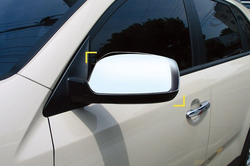 For Kia Sorento 2010 - 2014 Chrome Wing Mirror Cover Trim Set -Non LED indicator