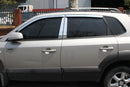 Auto Clover Chrome Wind Deflectors Set for Hyundai Tucson 2004 - 2010 (4 pieces)