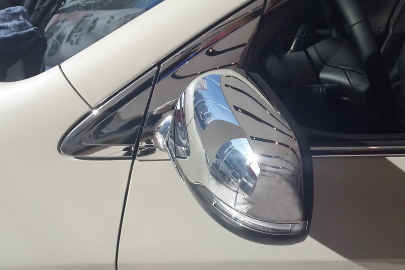 Auto Clover Chrome Wing Mirror Trim Set for Kia Picanto 2012 - 2016