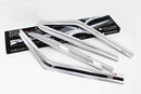 Auto Clover Chrome Wind Deflectors Set for Kia Soul 2014 - 2019 (4 pieces)