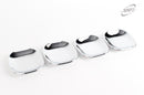 For Kia Sorento 2010 - 2014 Chrome Exterior Door Handle Inserts Bowls Trim Set