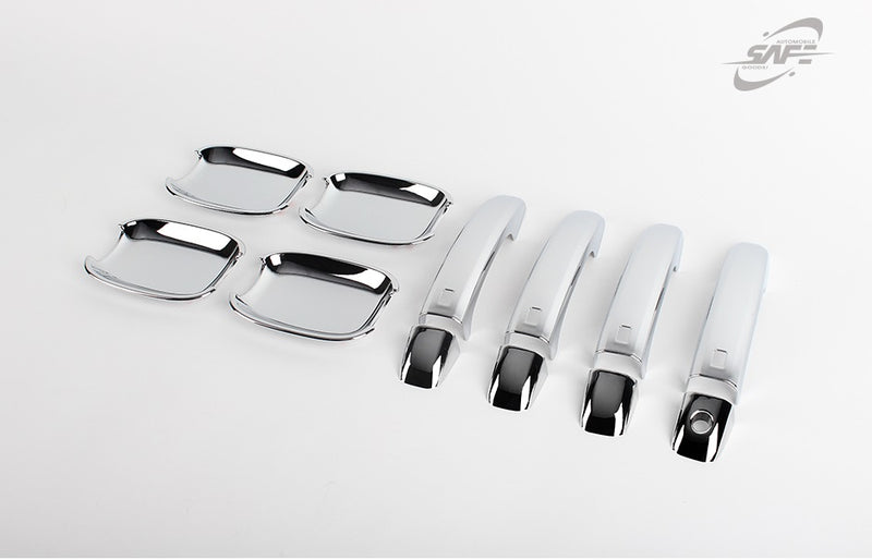 For Audi Q5 2008 - 2017 Chrome Exterior Door Handle Cover and Bowl Set (12 pcs)