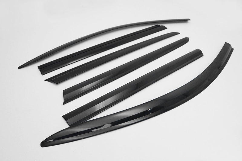 Auto Clover Premium Wind Deflectors Set for Mercedes GLC Coupe 2016+ (6 pieces)
