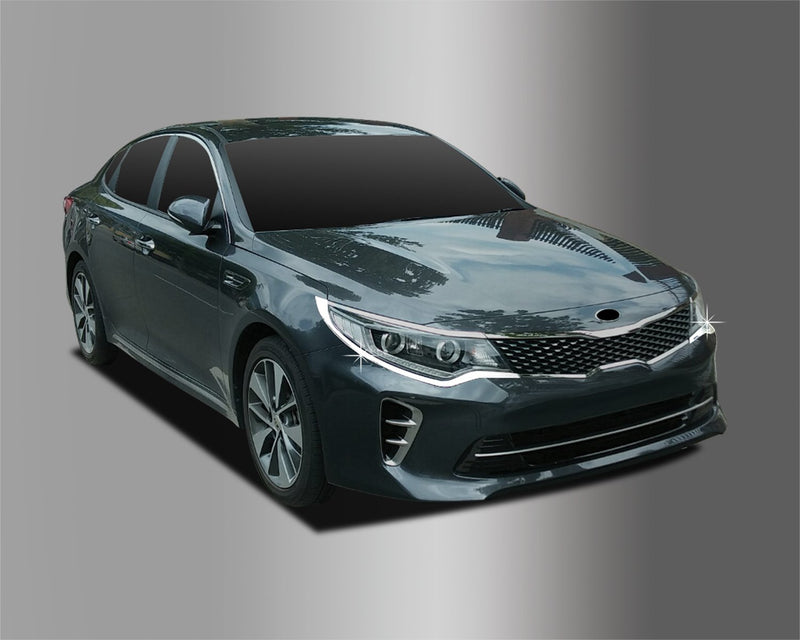 Auto Clover Chrome Head Light Trim Set for Kia Optima 2016+