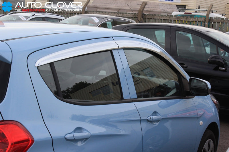 Auto Clover Chrome Wind Deflectors Set for Opel Karl (4 pieces)