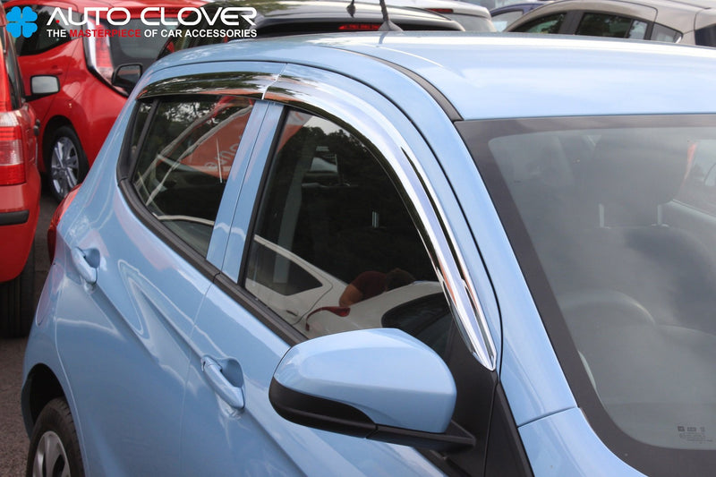 Auto Clover Chrome Wind Deflectors Set for Vauxhall Viva (4 pieces)