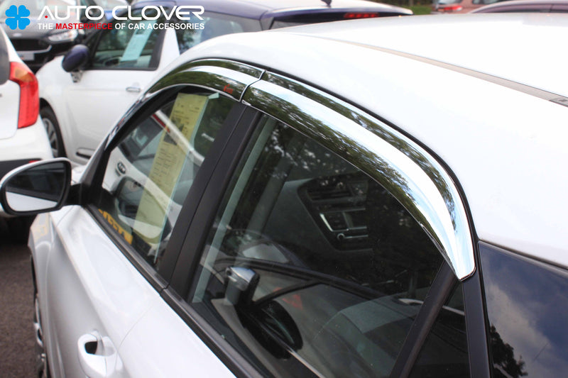 Auto Clover Chrome Wind Deflectors Set for Hyundai i20 2015+ (4 pieces)