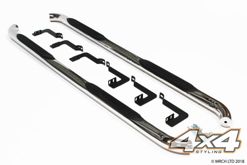 For Nissan Navara D40 2005 - 2015 T304 Stainless Steel Side Steps Bars 3""