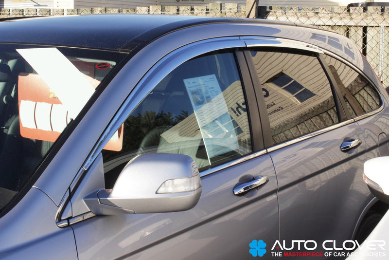 Auto Clover Chrome Wind Deflectors Set for Honda CRV 2007 - 2012 (4 pieces)
