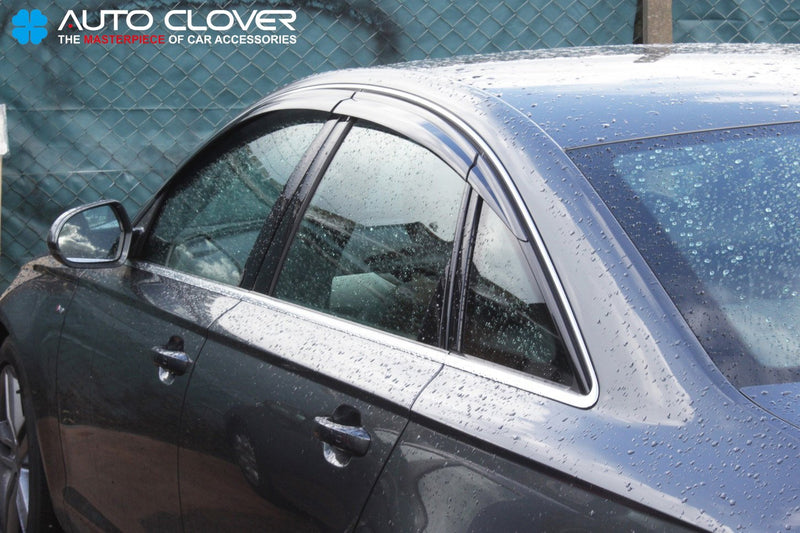 Auto Clover Wind Deflectors Set for Audi A6 2011 - 2018 (6 pieces)