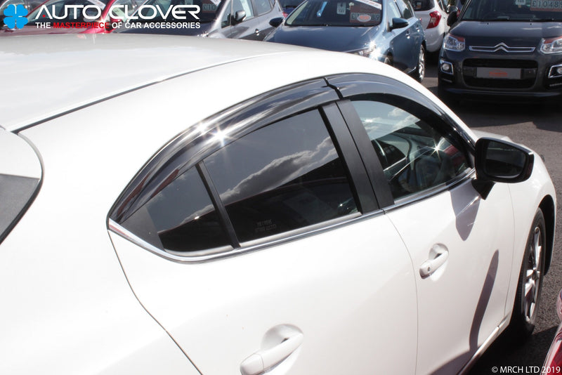 Auto Clover Wind Deflectors Set for Mazda 3 2014 - 2018 MK3 (4 pieces)