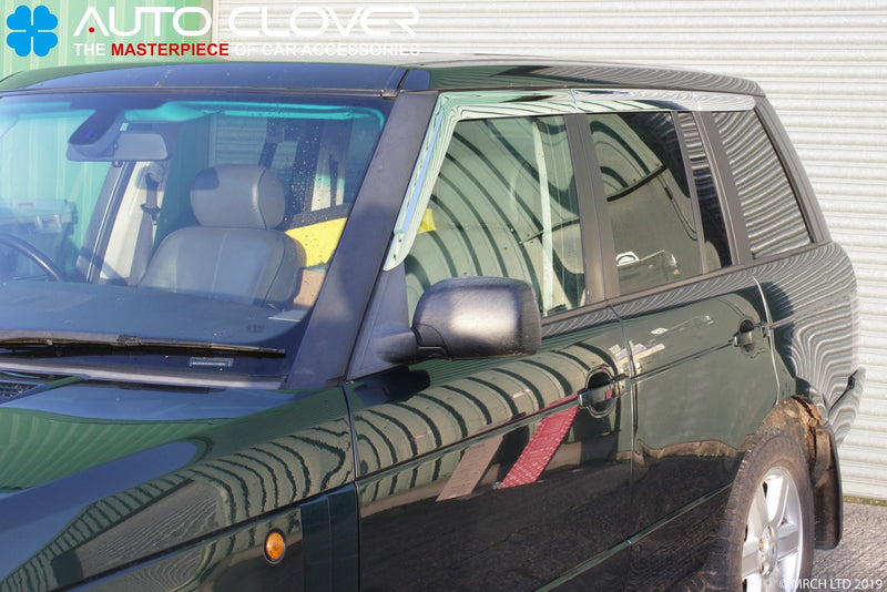 Auto Clover Chrome Wind Deflectors for Land Rover Range Rover Vogue L322 02 - 12