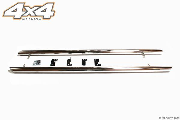"For Nissan Primastar 2001 - 2014 T304 Stainless Steel Side Steps Bars Set 3"" SWB"