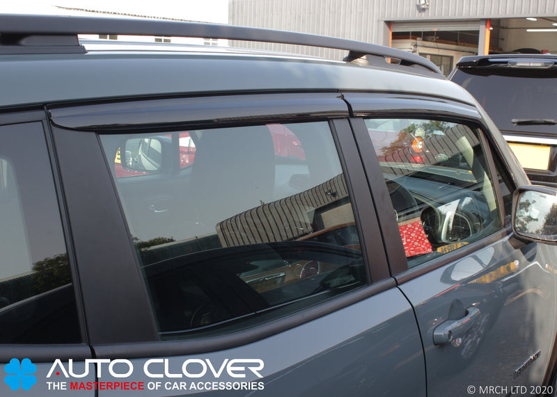 Auto Clover Wind Deflectors Set for Jeep Renegade 2014+ (4 pieces)