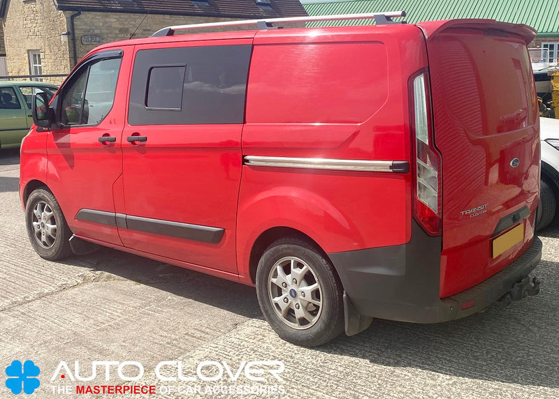 Auto Clover Wind Deflectors Set for Ford Transit Custom 2012+ (2 pieces)